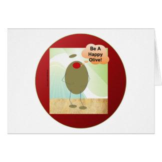 A azeitona feliz cartão comemorativo