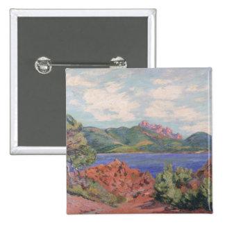 A baía de Agay, c.1905 (óleo em canvas) Bóton Quadrado 5.08cm