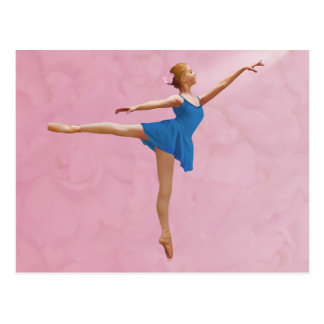 A bailarina com aumentou no cartão da pose do