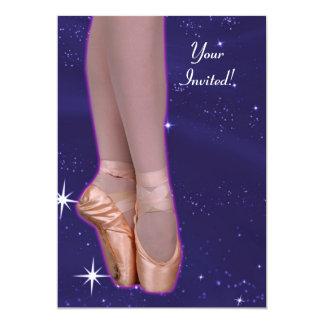 A bailarina dança entre as estrelas convite