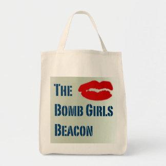 A baliza das meninas da bomba sacola tote de mercado