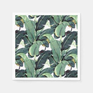 A banana sae palmeira de guardanapo de papel