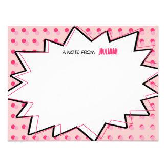 A banda desenhada cor-de-rosa do pop art inspirou convites