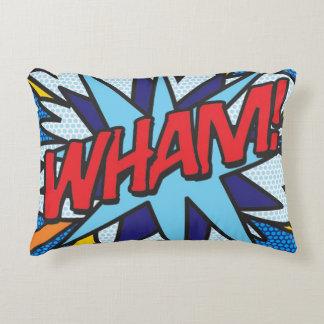 A banda desenhada WHAM! coxim do travesseiro do Almofada Decorativa