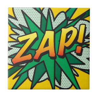 A banda desenhada ZAP! Azulejo Quadrado Pequeno