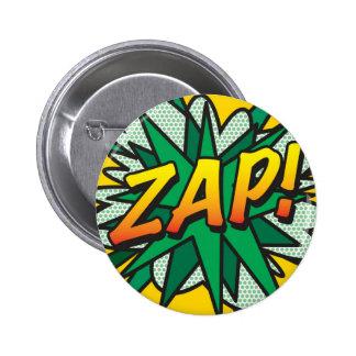 A banda desenhada ZAP! Bóton Redondo 5.08cm