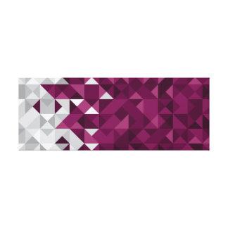 A bandeira abstrata de Qatar, Qatari colore canvas
