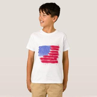 A bandeira americana caçoa a camisa