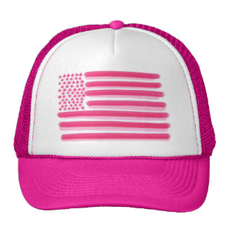 A bandeira americana cor-de-rosa stars o chapéu da boné