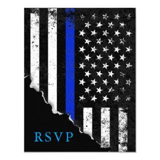 A bandeira americana denominada polícia RSVP Convite 10.79 X 13.97cm