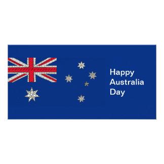 A bandeira australiana Zentangle-Inspirou decorati Cartões Com Foto