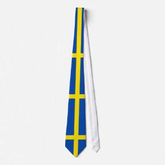 A bandeira da suecia gravata
