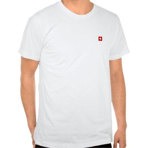 A bandeira da suiça camisetas