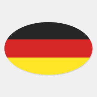 A bandeira de Alemanha Adesivo Oval
