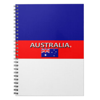 A bandeira de Austrália colore o caderno moderno