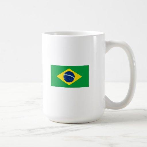 A bandeira de Brasil Canecas