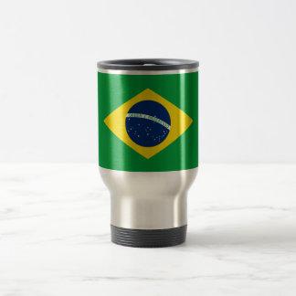 A bandeira de Brasil Caneca Térmica