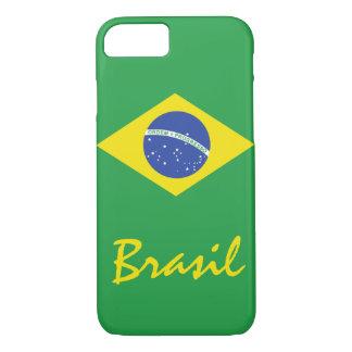 A bandeira de Brasil com texto nativo Capa iPhone 7