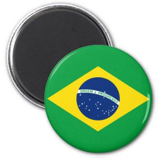 A bandeira de Brasil Ímã Redondo 5.08cm