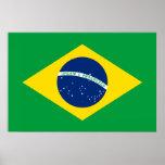 A bandeira de Brasil Poster