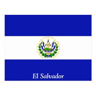 A bandeira de El Salvador. Cartões Postais