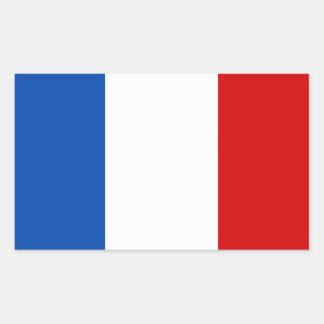 A bandeira de France Adesivos Retangulares