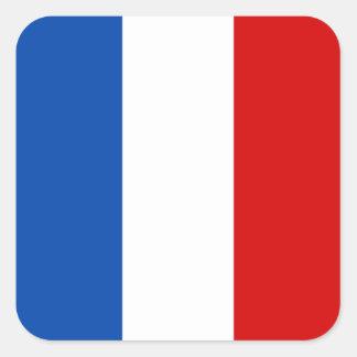A bandeira de France Adesivo Quadrado