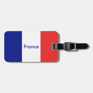A bandeira de France ou de Tricolore Etiqueta De Bagagem