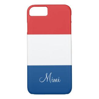 A bandeira de France personalizou Capa iPhone 7