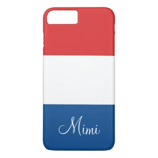 A bandeira de France personalizou Capa iPhone 7 Plus