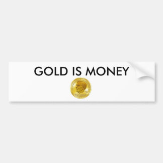 a bandeira de ouro de Ron Paul, OURO É DINHEIRO Adesivo Para Carro