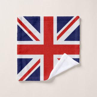 A bandeira de Reino Unido acende o grupo de toalha