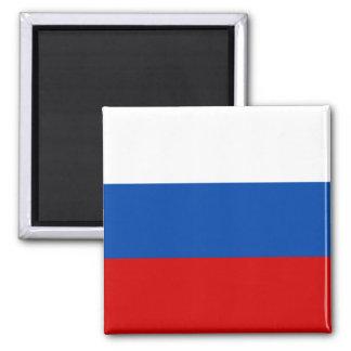 A bandeira de Rússia Ímã Quadrado