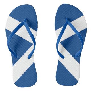 A bandeira de Scotland em chinelos