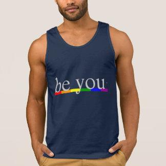 A bandeira do arco-íris do orgulho gay seja você