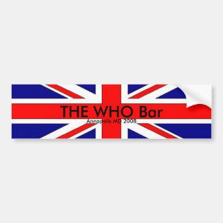 a bandeira do Británico, O WHO barra, DM 2008 de A Adesivo Para Carro