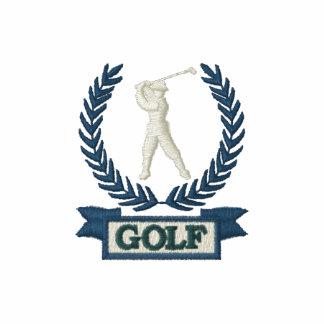 A bandeira do golfe ostenta o logotipo camiseta bordada polo