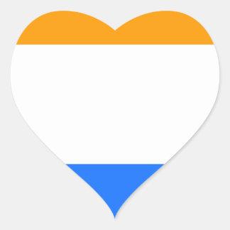 A Bandeira do príncipe Adesivo Coração