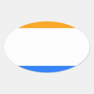 A Bandeira do príncipe Adesivo Oval