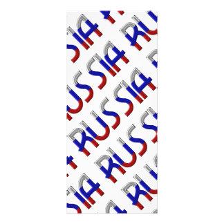 A bandeira do russo de Rússia colore a tipografia 10.16 X 22.86cm Panfleto