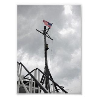 A bandeira do vôo - impressão da foto 5x7