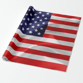 A bandeira dos Estados Unidos da América Papel De Presente