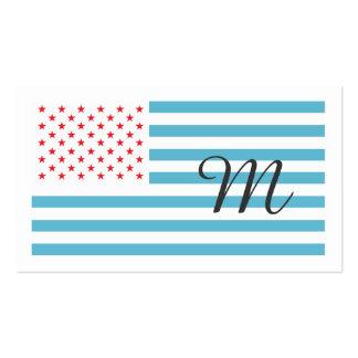 A bandeira dos Estados Unidos personalizou o Cartão De Visita