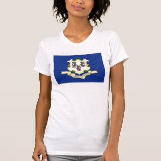 A bandeira EUA do estado de Connecticut uniu o T-shirt