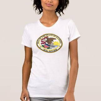 A bandeira EUA do estado de Illinois uniu o selo T-shirt