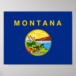 A bandeira EUA do estado de Montana uniu o símbolo Poster