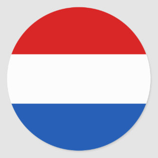 A bandeira holandesa adesivo redondo