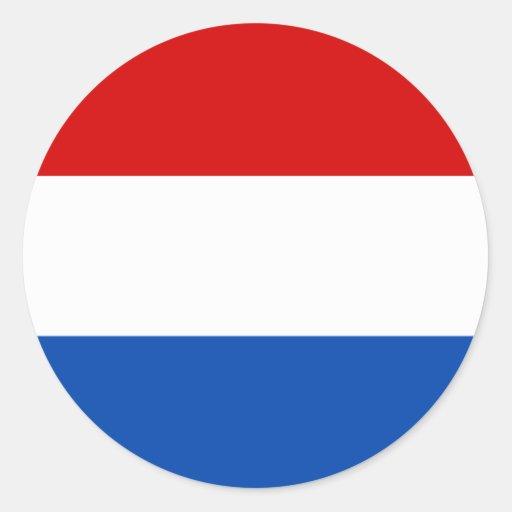A bandeira holandesa adesivo em formato redondo