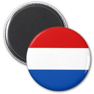 A bandeira holandesa ímã redondo 5.08cm