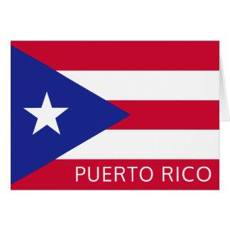 A bandeira nacional de Puerto Rico Cartão De Nota